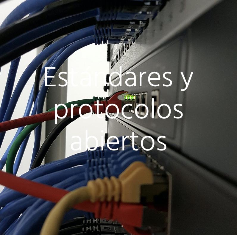 Imagen alusiva a Implementación de estándares y protocolos abiertos