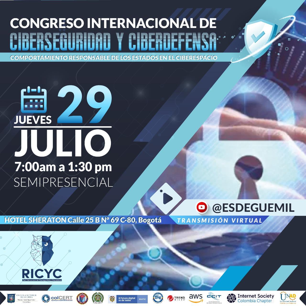 Imagen alusiva a Congreso Internacional de Ciberseguridad y Ciberdefensa