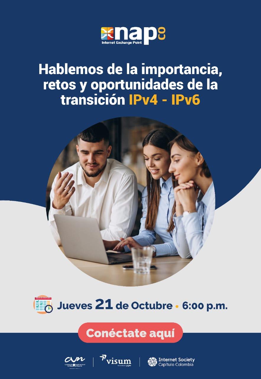 Imagen alusiva a Hablemos de la importancia, retos y oportunidades de la transición IPv4 - IPv6